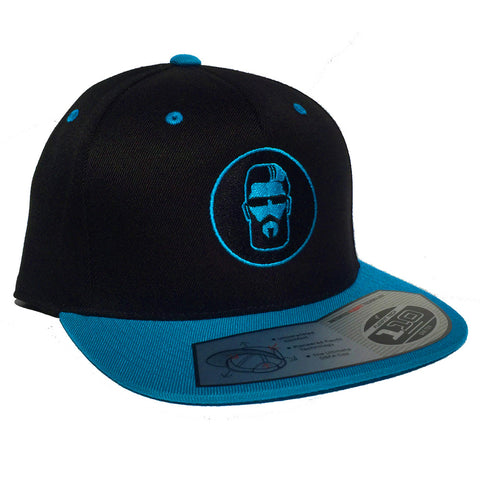 Snapback Hat (Black/Baby Blue)