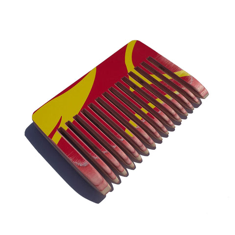 Skate Comb - Red/Yellow Flames