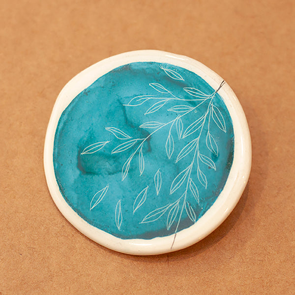 Broche Blue Forest Redondo