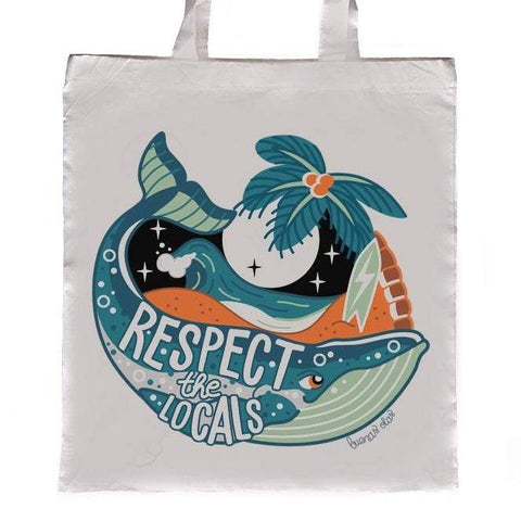Bolso Tote Respect the Locals - Mie Moe