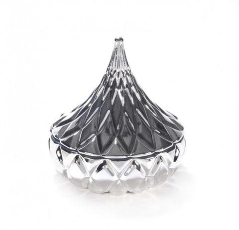 Crystal Hershey kiss Candle in Silver filled with your choice of scented Soy - DELIVERY INCLUDED