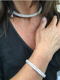 double row Swarovski crystal choker and matching bangle