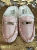 Luxury Ladies Rosa PINK Moccasin Style Slipper