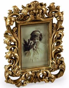 "Anitque Gold Ornate Picture Frame 5""x 7"""