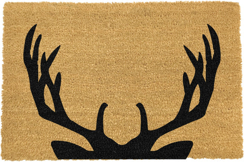 Black deer door mat