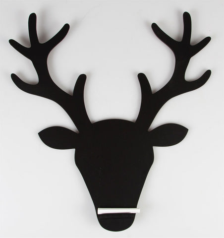 Stag Head Chalkboard with chalk