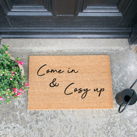 Come in & cosy up door mat
