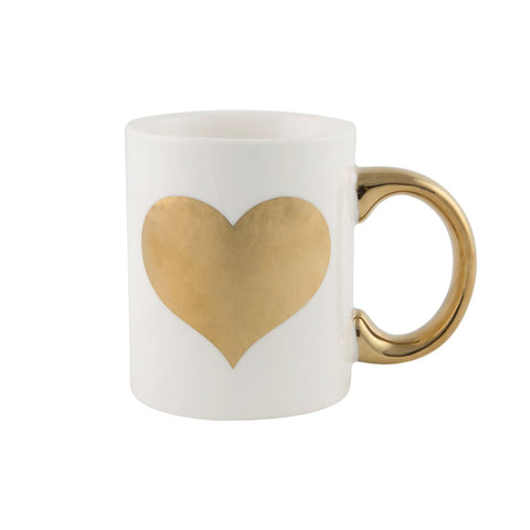 Metallic Full Gold Heart Mug