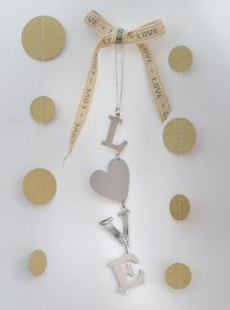 L O V E Nickel Hanging Accessory