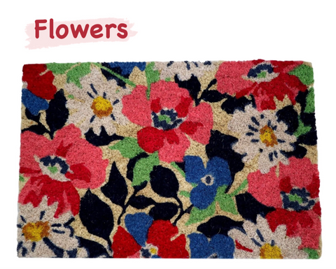 Flowers door mat
