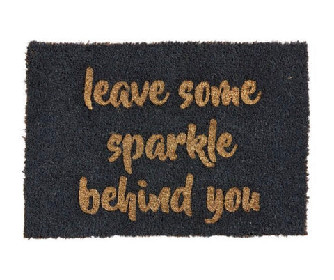 dark grey with gold glitter door mat 60cm x 40cm
