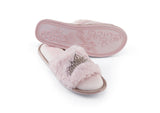 Luxury Ladies Faux Fur Taylor Pink Slipper