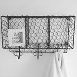 Wire Box Shelving with 3 Hooks