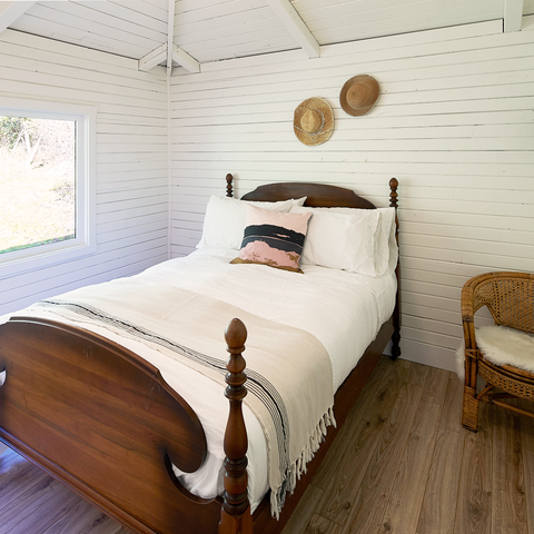 Salt Spring Island Cabin Boho Bedroom