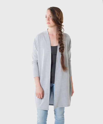 Oceana Cardigan  |  Heather French Terry