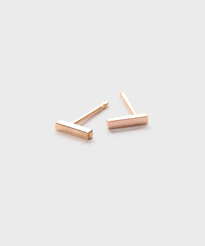 Dash Studs  |  Rose Gold Fill