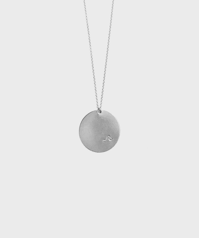 Circle Wave Necklace  |  Sterling Silver