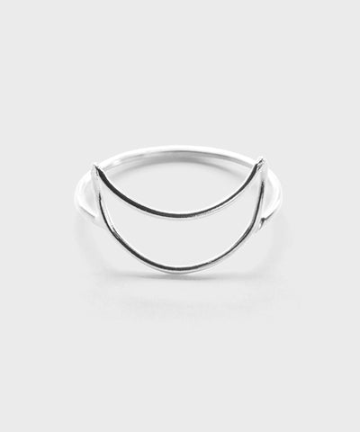 Crescent Moon Ring  |  Sterling Silver