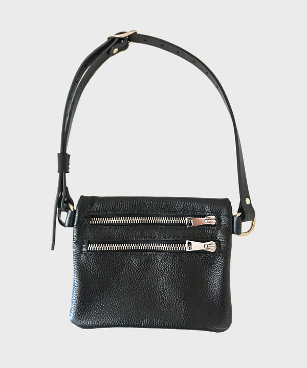 Black Leather Fanny Pack - SALT Shop