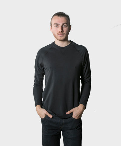 Beck Long Sleeve |  Black French Terry