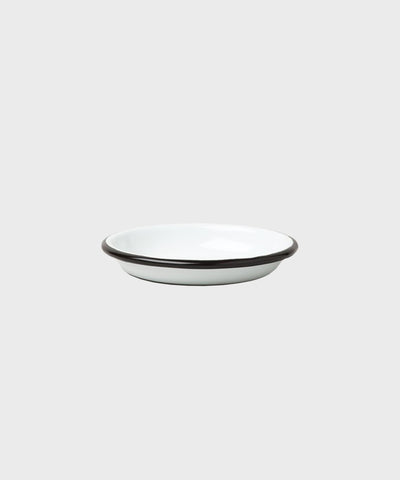 Sauce Dish  |  White + Coal Black