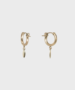 Leaf Hoop Earrings - SALT Shop