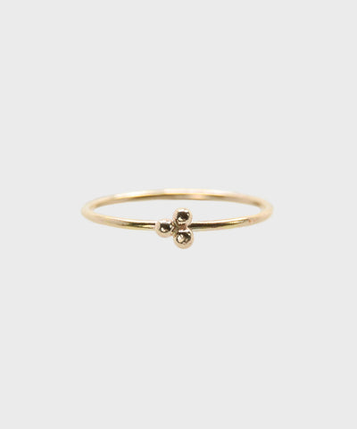 Triple Dot Ring  |  14k Yellow Gold Fill