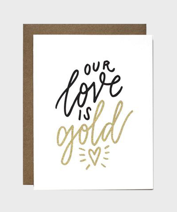 Card  |  Our Love is Gold