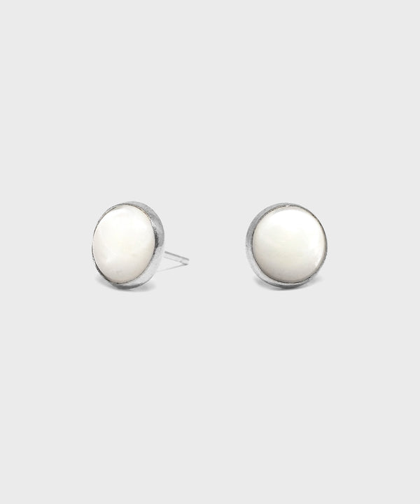 8mm Mother of Pearl Earrings