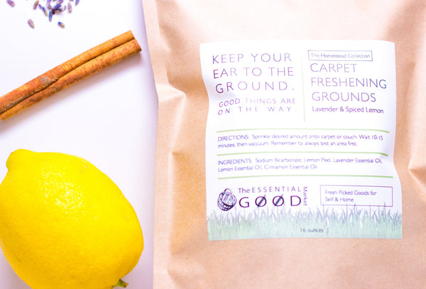 Carpet Freshening Grounds | Lavender & Spiced Lemon - The Essential Good Market
