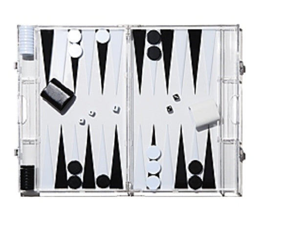 Aurosi Backgammon Game Set, Black/White