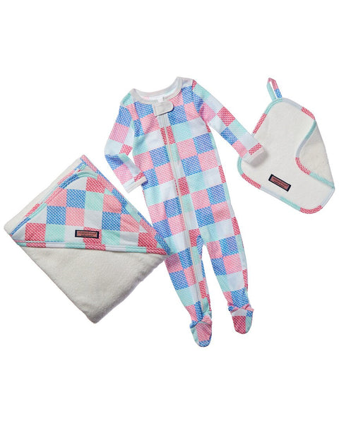 VINEYARD VINES BABY Patchwork Bath To Bed 3 PC Set Baby