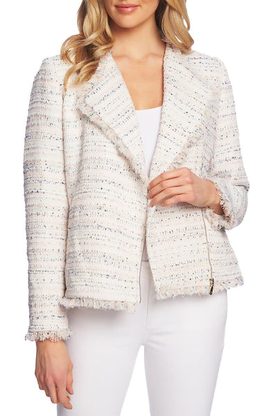 CeCe Tweed Moto Jacket