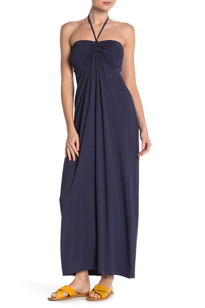 Tommy Bahama Tambour Maxi Dress - Size Large, Ocean Deep