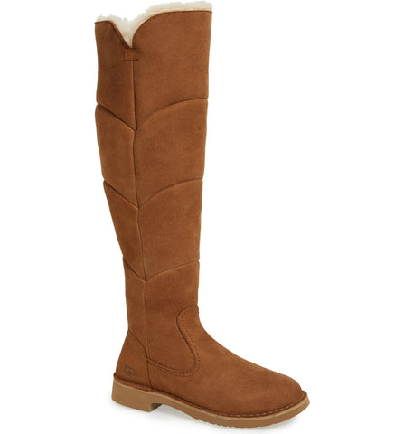 Women's Ugg 'Sibley' Over The Knee Water Resistant Boot, Size 9 M - Brown