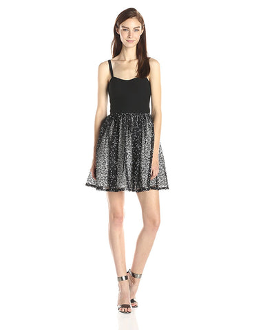 Aidan by Aidan Mattox Embellished Fit & Flare Sleeveless Cocktail Dress