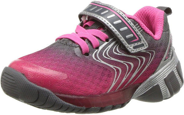Stride Rite Girls' Lights Lux Sneaker, Pink, 7.5 Medium US Toddler