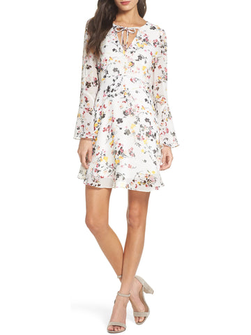 Sam Edelman Women's Dream Garden Bell Sleeve Dress