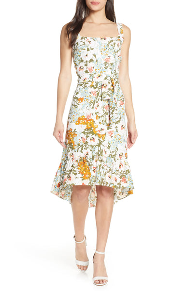 Floral Belted Fit & Flare Sundress