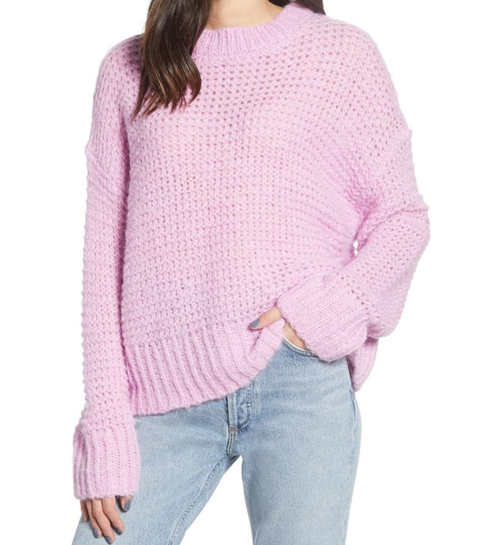 Chelsea28 Women Long sleeves Crewneck Sweater | Size - X - Small | Purple