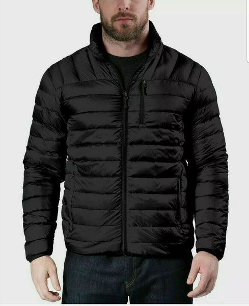 Hawke & Co Mens Packable  Puffer Jacket | Size Medium | Color Black
