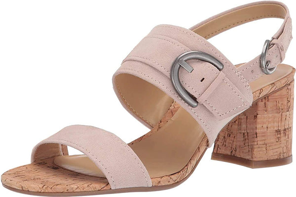 Naturalizer Womens Kaylee Suede Peep Toe Casual Slingback Sandals