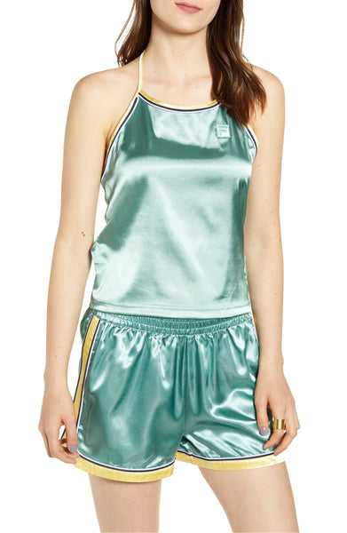 Fila Women's Marisol Satin Halter Tank - Size Medium | Pale Banana