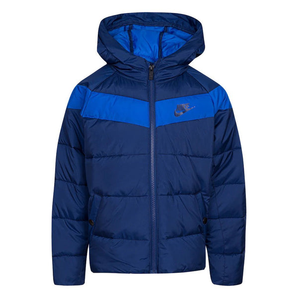 Boys Nike Full-Zip Ripstop Jacket, Blue, 5-6 years old