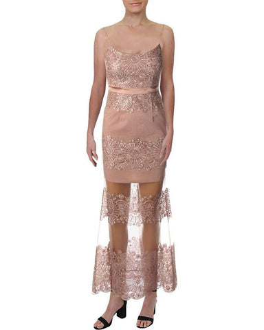 Aidan by Aidan Mattox Women's Embroidered Sequined Evening Dress
