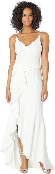 Adrianna Papell Women's Knit Crepe Cascading Gown