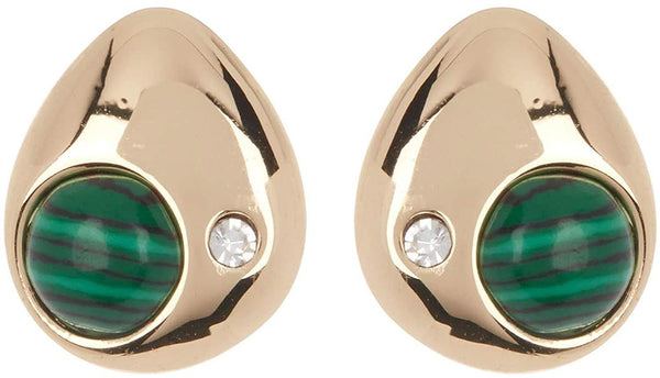 Vince Camuto Teardrop Stud With Crystal & Stone Earrings, One Size, Gold
