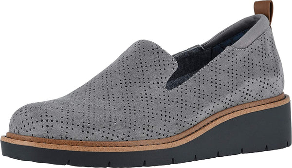 Dr. Scholl's Sidekick, Dark Shadow Grey Microfiber, 7