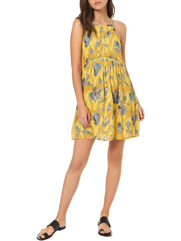 O'Neill Juniors' Floral Print Crinkle Dress