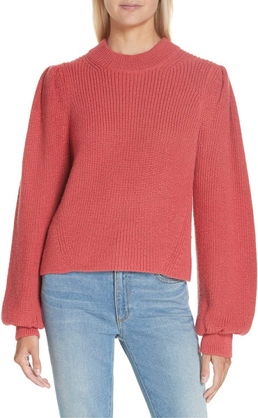 ELEVEN SIX Women's Mia Baby Alpaca Sweater, Size Large - Pink